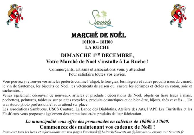 Marché de Noël Saucats 2020